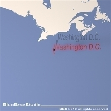 washington d.c. 3d model 3ds dxf c4d obj 102595