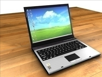 acer aspire notebook 3d model 3ds c4d tekstuur 109105