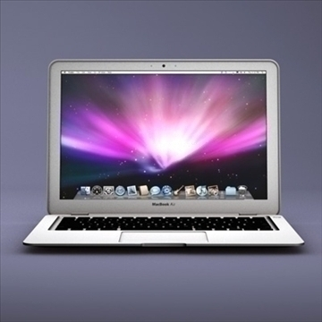 klēpjdators ābols macbook air 3d modelis 3ds dxf fbx c4d x obj 87789