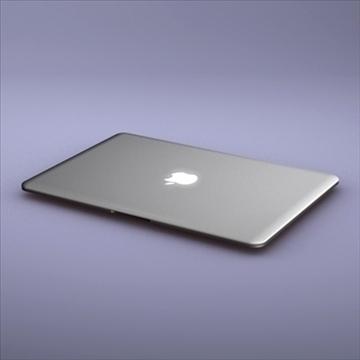 laptop apple macbook air 3d model 3ds dxf fbx c4d x obj 87792