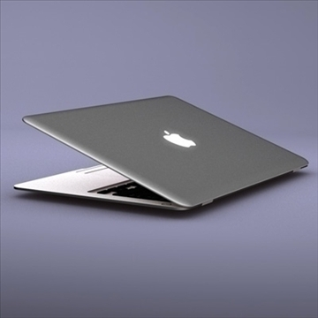 laptop apple macbook air 3d model 3ds dxf fbx c4d x obj 87793