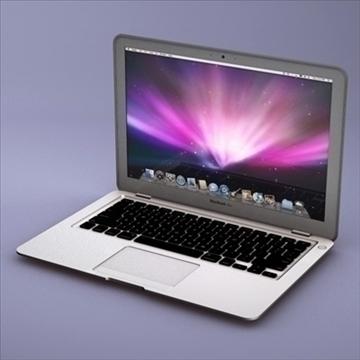 laptop apple macbook air 3d model 3ds dxf fbx c4d x obj 87794