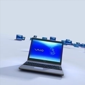 laptops animated commercial 3d model max 93164