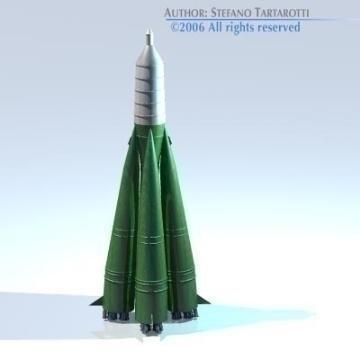 Sputnik eldflaugar r-7 semyorka 3d líkan 3ds dxf c4d obj 77993