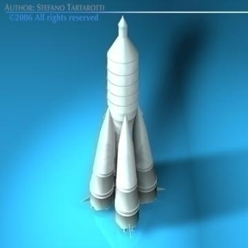 Sputnik eldflaugar r-7 semyorka 3d líkan 3ds dxf c4d obj 77997