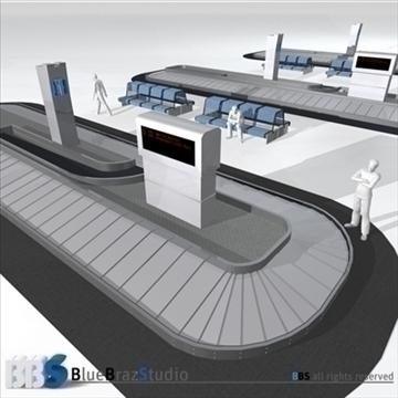 lidostas bagāžas karuselis 3d modelis 3ds dxf c4d obj 105616