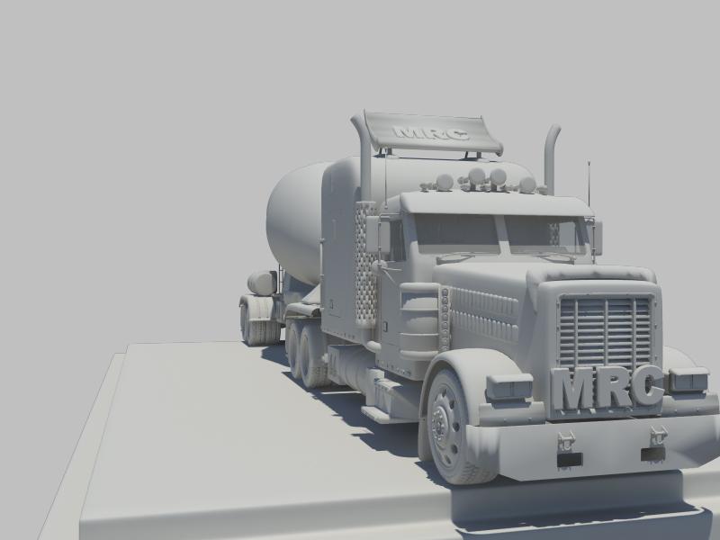 concrete mixer 3d model 116352