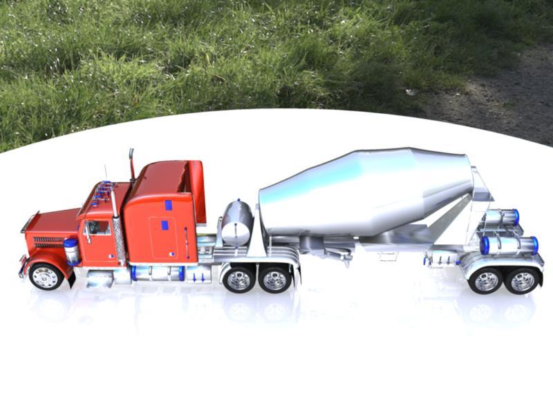 concrete mixer 3d model 116354