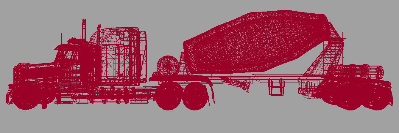 concrete mixer 3d model 116355