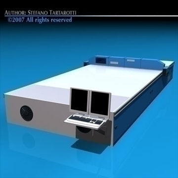 cutting table 3d model 3ds dxf c4d obj 85384