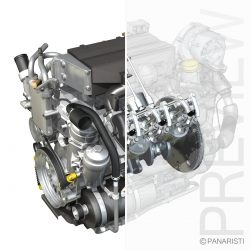 Diesel Turbo Engine with Interior Parts ( 576.62KB jpg by Panaristi )