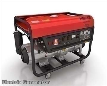 electric generator 3d model 3ds max obj 111292