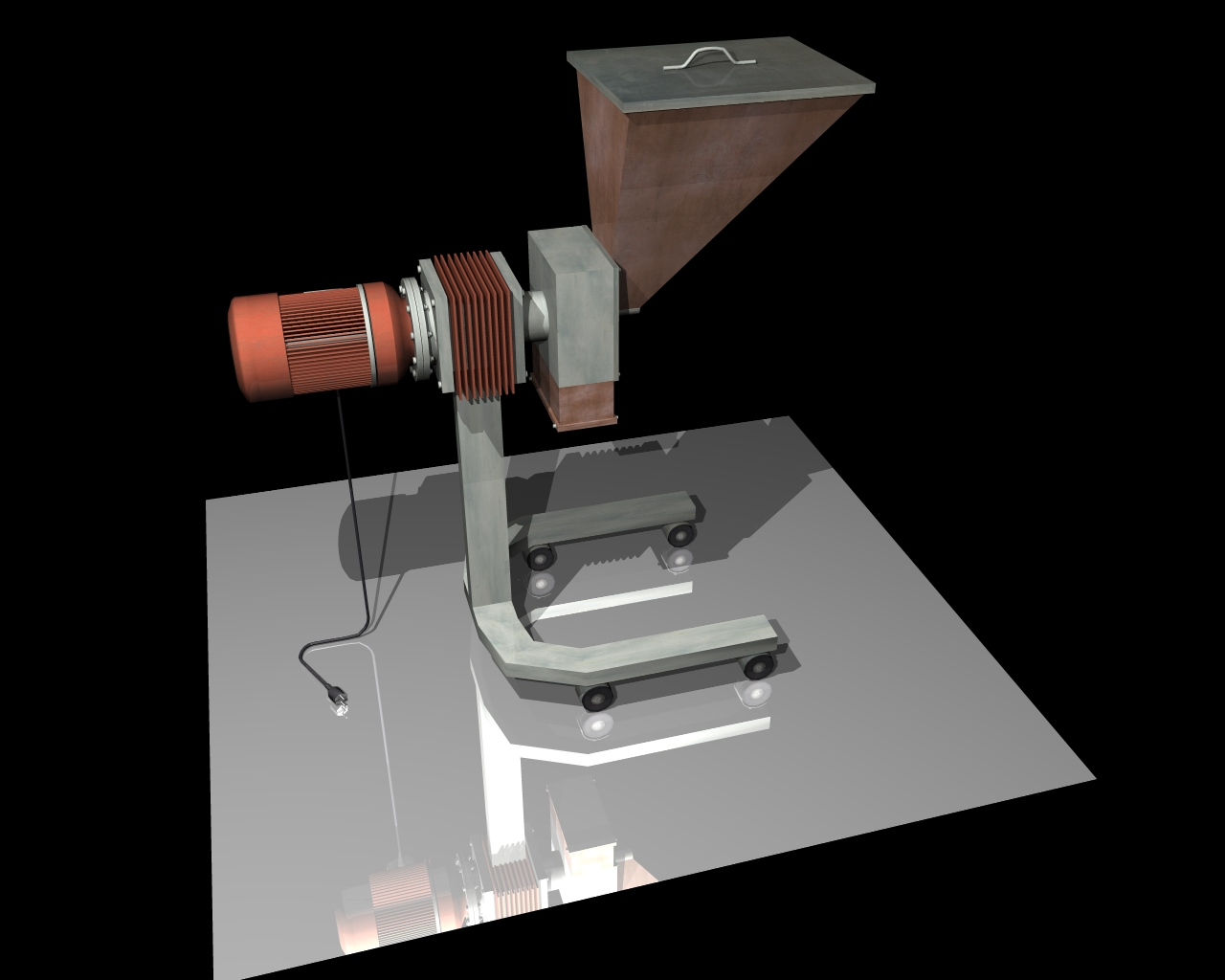 grind machine 3d model 3ds 164261