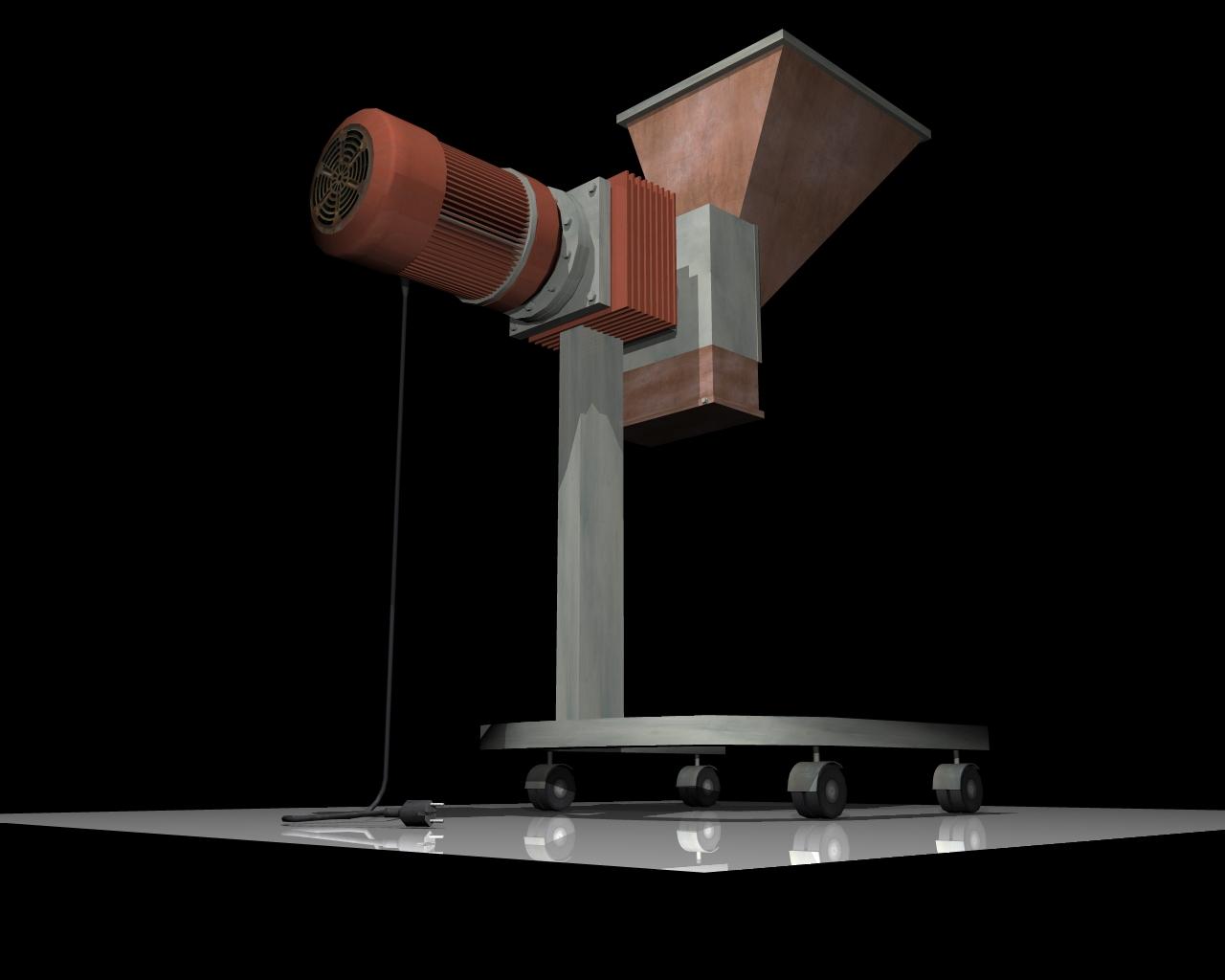 grind machine 3d model 3ds 164263
