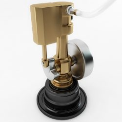 Minature Wobble Steam Engine ( 129.33KB jpg by Plutonius )