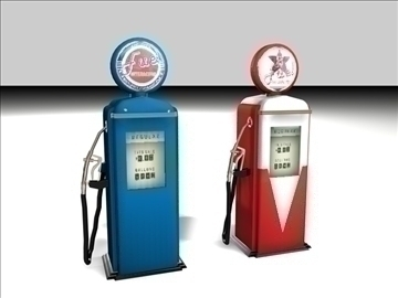 old gas pump 3d model 3ds c4d texture 109126