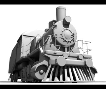 train 3d model lwo obj 97604