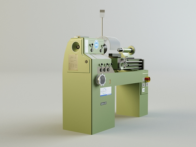turning machine 3d model 3ds max obj 139123