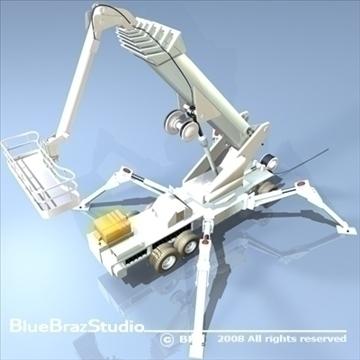 wheeled spider platform 3d model 3ds dxf c4d obj 91214