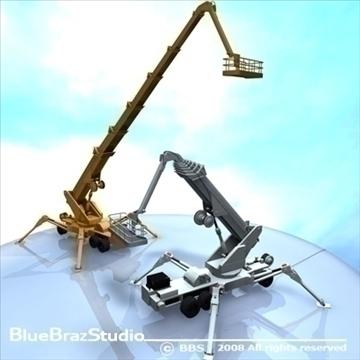wheeled spider platform 3d model 3ds dxf c4d obj 91215