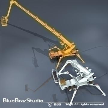 wheeled spider platform 3d model 3ds dxf c4d obj 91216