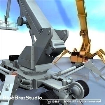 wheeled spider platform 3d model 3ds dxf c4d obj 91217