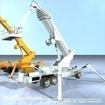 wheeled spider platform 3d model 3ds dxf c4d obj 91219