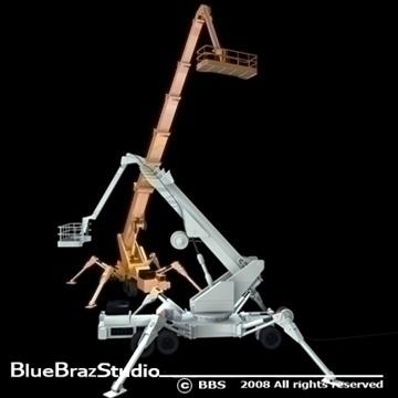 wheeled spider platform 3d model 3ds dxf c4d obj 91220
