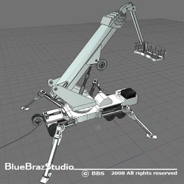 wheeled spider platform 3d model 3ds dxf c4d obj 91221