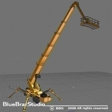 wheeled spider platform 3d model 3ds dxf c4d obj 91222