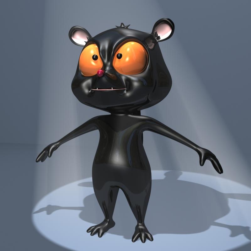 watak lemur hitam 3d model 3ds max fbx lwo obj 145164