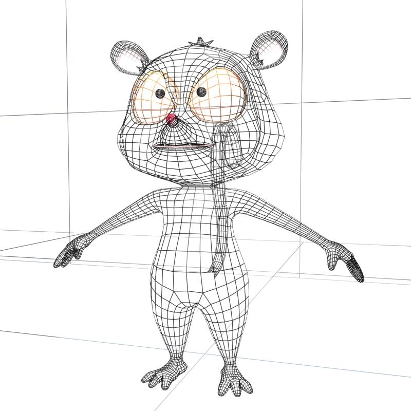 watak lemur hitam 3d model 3ds max fbx lwo obj 145167