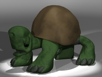 box turtle 3d model 3ds dxf lwo 80675