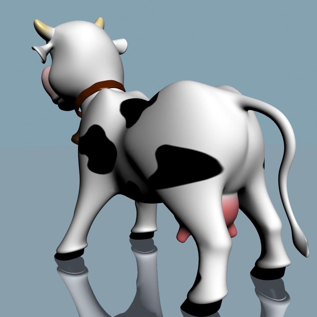 cartoon cow rigged 3d model 3ds max fbx  obj 166111