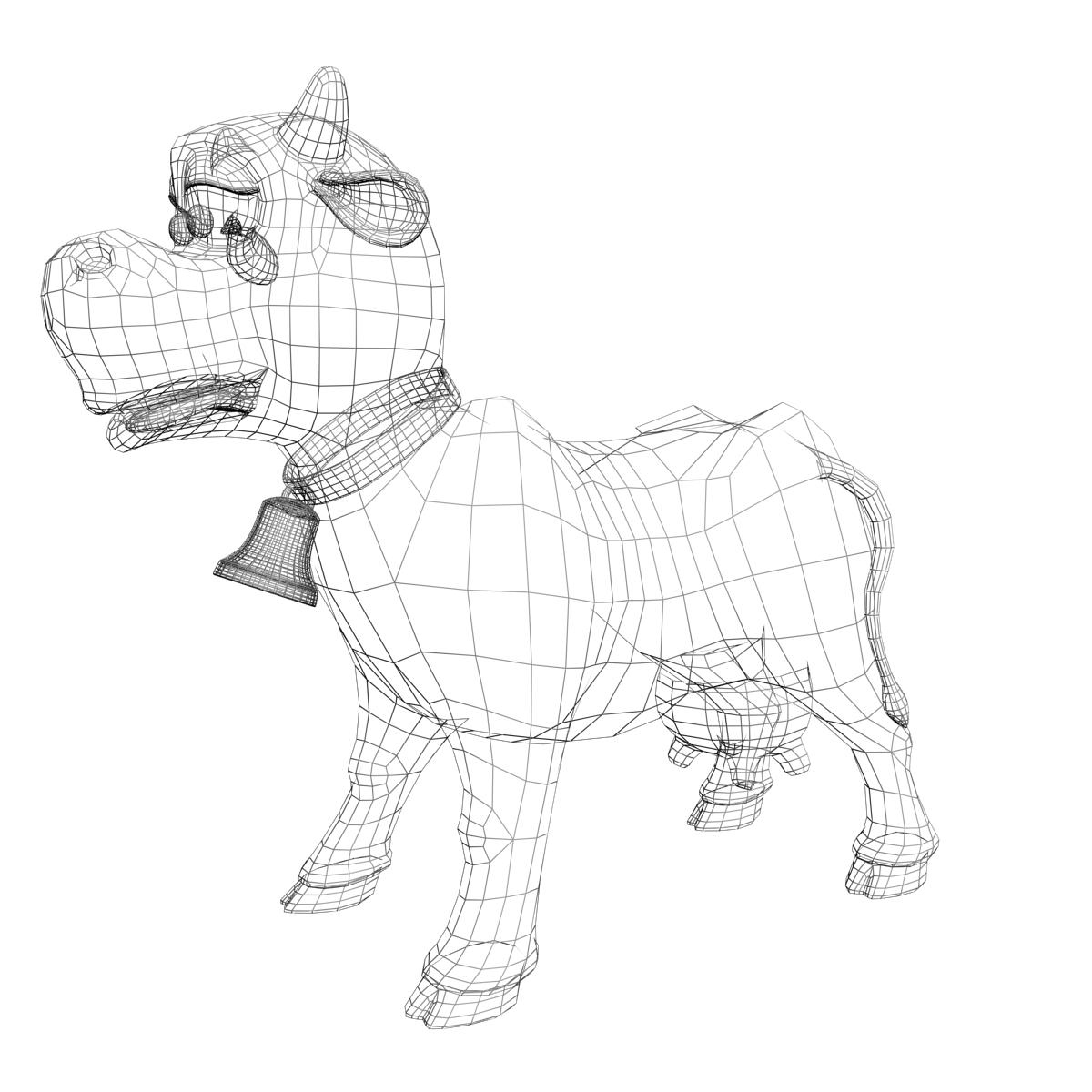cartoon cow rigged 3d model 3ds max fbx  obj 166113