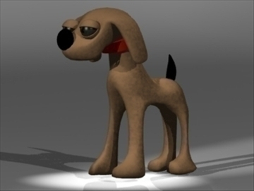 cartoon dog 3d modelo 3ds dxf lwo 80679