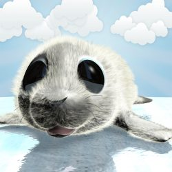 Cartoon Baby Seal Rigged ( 713.68KB jpg by supercigale )