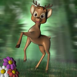 Cartoon Deer Rigged ( 691.39KB jpg by supercigale )