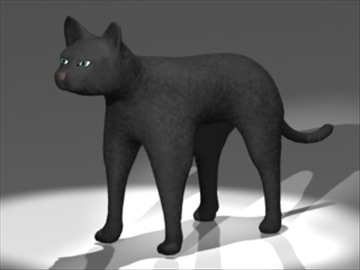cat 3d model 3ds dxf lwo 80680