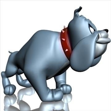 crazy dog cartoon 3d model 3ds max fbx lwo obj 107132