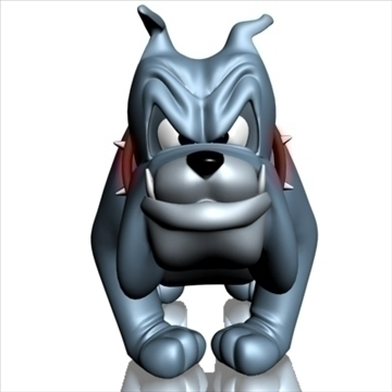 crazy dog cartoon 3d model 3ds max fbx lwo obj 107133