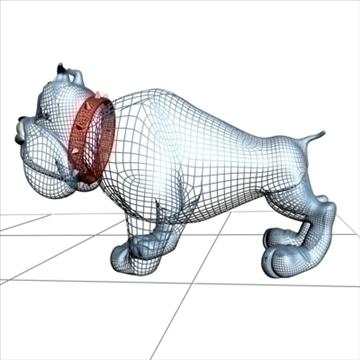 crazy dog cartoon 3d model 3ds max fbx lwo obj 107135