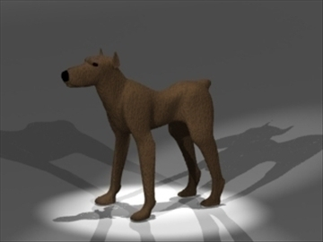 dog 3d model 3ds dxf lwo 80684
