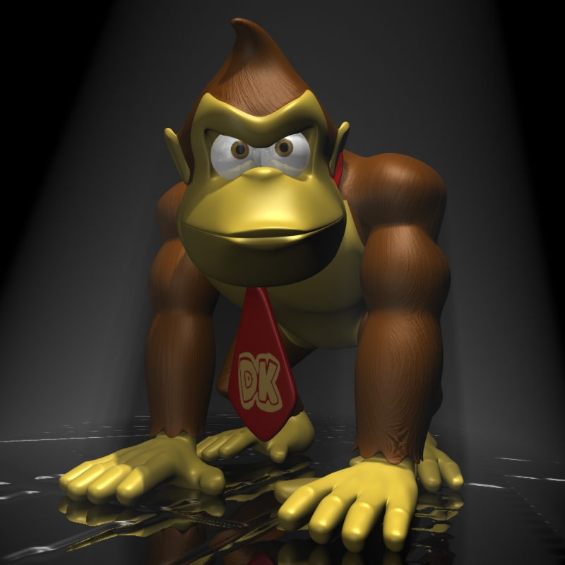 donkey kong rigged 3d model 3ds max fbx lwo obj 140438