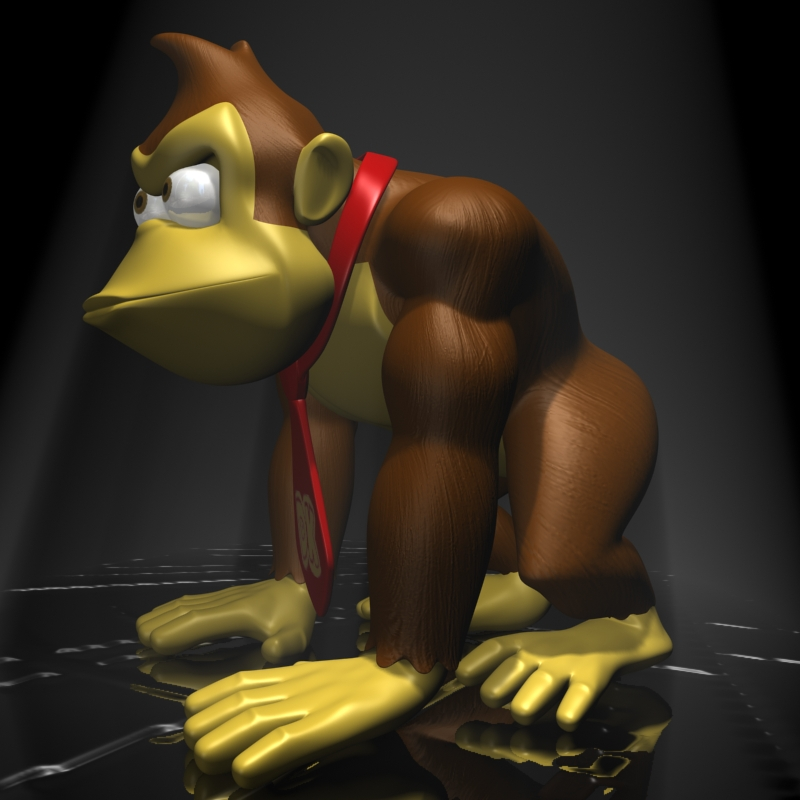 donkey kong rigged 3d model 3ds max fbx lwo obj 140439