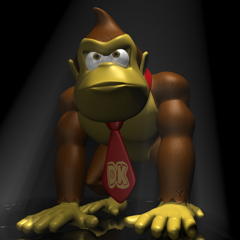 donkey kong rigged 3d model 3ds max fbx lwo obj 140441