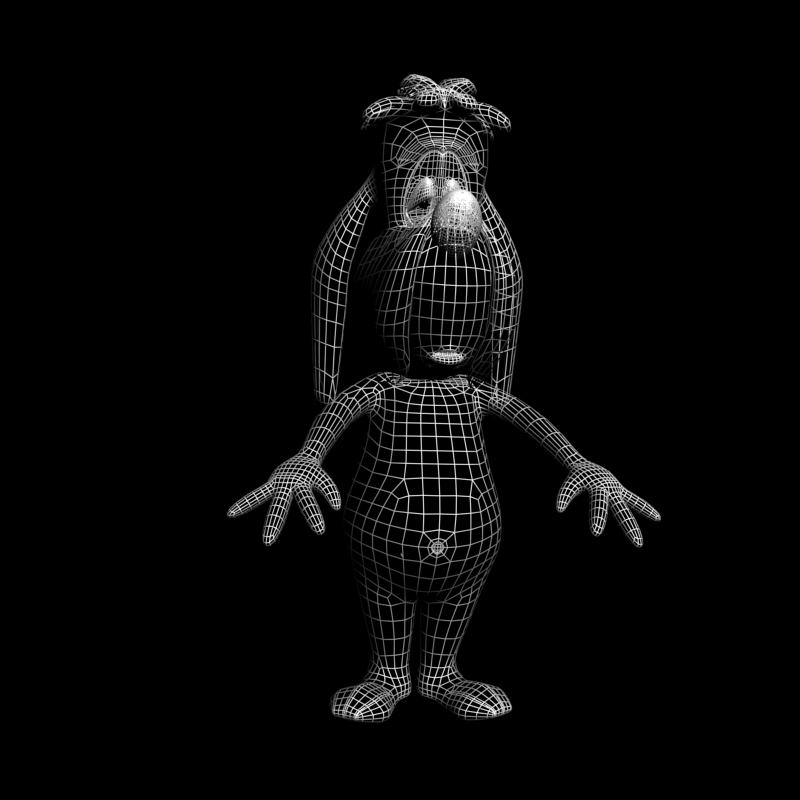 droopy rigged 3d model 3ds max obj 103662