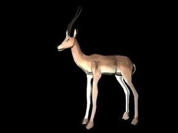 gazelle 3d model max blend c4d lwo obj 90969