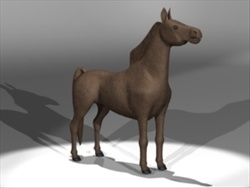 horse 3d model 3ds dxf lwo 80690