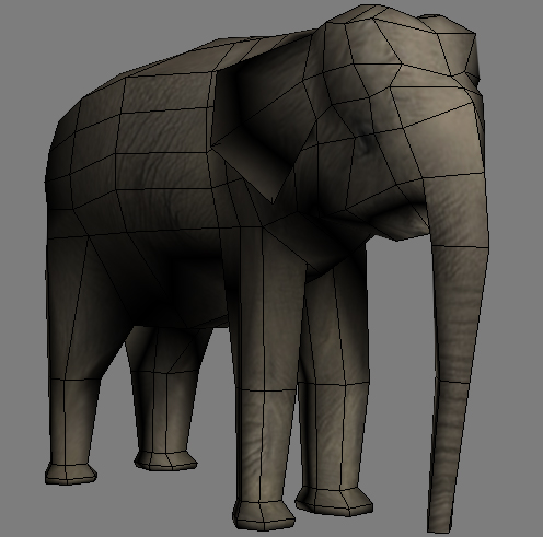 lowpoly asian elephant 3d model 3ds max obj 147570